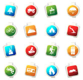 Active recreation icons Royalty Free Stock Photography