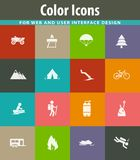Active recreation icons. For user interface design Stock Images
