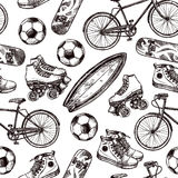 Active Recreation Seamless Pattern Stock Image
