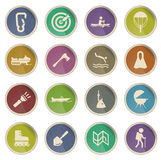 Active recreation simply icons Stock Image