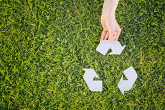 Active Recycling Concept Stock Image