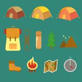 Active rest. Hiking element for design,. Active rest. Hiking element for design. Vector illustration of hiking rest Royalty Free Stock Images