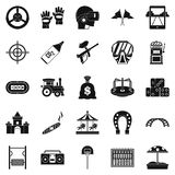Active rest icons set, simple style Stock Images