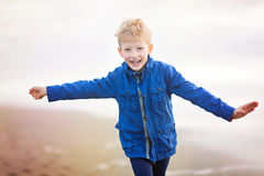 Active running boy Stock Photography