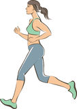 Active running girl Stock Photography