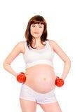 Active schwanger Stockbild