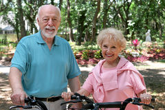 Active Senior Bikers Royalty Free Stock Photography