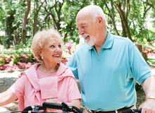 Active Senior Bikers Stock Photo