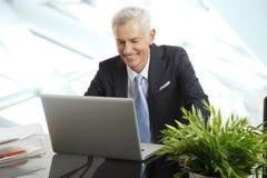 Active senior businessman Royalty Free Stock Photo