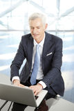 Active senior businessman Royalty Free Stock Images