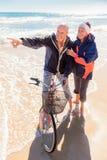 Active senior couple royalty free stock image