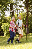 Active senior couple Stock Images