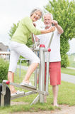 Active senior couple. Smiling and active senior couple Stock Photos