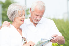 Active senior couple. Smiling and active senior couple royalty free stock photography