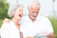 Active senior couple stock photography