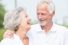 Active senior couple. Smiling and active senior couple Stock Photo