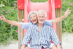 Active senior couple Royalty Free Stock Image
