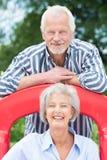 Active senior couple Stock Photos