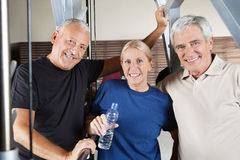 Active senior fitness group Royalty Free Stock Images