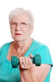 Active senior with free weight Royalty Free Stock Photography