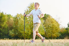 Active senior hiking in the nature Royalty Free Stock Photos
