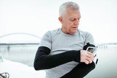 Active Senior Man royalty free stock photos