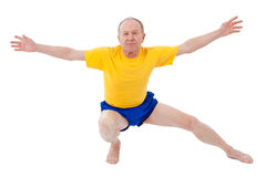 Active senior man. Exercise Royalty Free Stock Photos