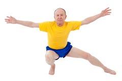 Active senior man. Exercise. Active senior man doing exercise Royalty Free Stock Photos