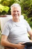 Active senior man portrait Stock Image