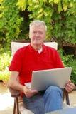 Active senior man portrait Royalty Free Stock Photos