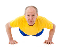 Active senior man. Push Ups Royalty Free Stock Photography