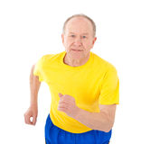 Active senior man. Run stock image
