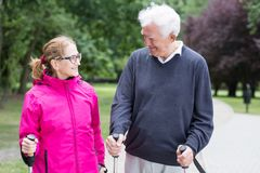 Active senior married couple Stock Image