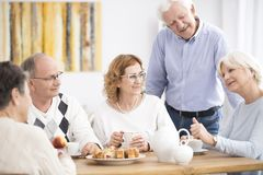 Active senior people meeting Royalty Free Stock Images