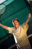 Active Senior Playing Tennis Stock Photos