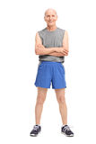 Active senior in sportswear Royalty Free Stock Image