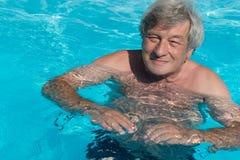 Active senior swimming Royalty Free Stock Image