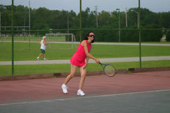active senior tennis player Royalty Free Stock Image