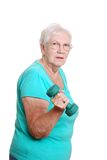 Active Senior woman exercising Royalty Free Stock Photos