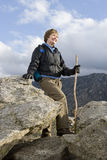 Active Senior Woman Hiking Royalty Free Stock Images