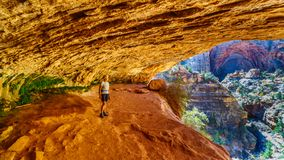 Free Active Senior Woman In A Cave On A Hike On The Canyon Overlook Trail In Zion National Park, Utah Stock Image - 166723561