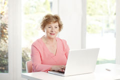 Active senior woman portrait Royalty Free Stock Photos