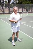 Active Senior Woman - Tennis Stock Image