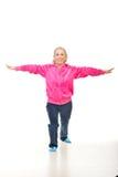 Active senior woman training stock photography