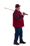 Active Senior Woman with walking stick 3 Stock Images