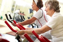Active seniors Stock Images