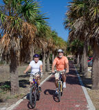 Active Seniors on Bikes Stock Image