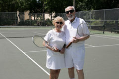 Active Seniors in Shades Royalty Free Stock Photo