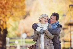 Active seniors in town Royalty Free Stock Image