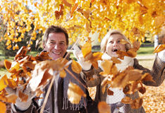 Active seniors in town Royalty Free Stock Photo